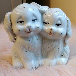 Vintage Taiwanese Porcelain Dogs Figurine